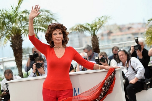 Twee weken terug was Sophia Loren in Cannes ook al de grote ster