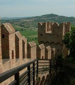 uitzicht vanaf het kasteel van Gradara