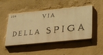 Via della Spiga, een van de modestraten in Milaan